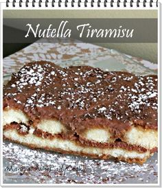 Today I made Nutella Tiramisu, it's so easy!- it's a recipe that can be…