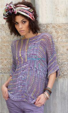 Вязание пуловера со спущенными петлями - ХитсоветХитсовет