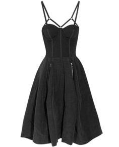 WILLOW • Stretch-jersey and linen-blend dress