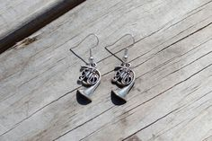 How I Met Your Mother Earrings, Blue French Horn, Robin Scherbatsky, Ted Mosby, Silver French Horn Earrings