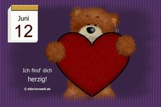 Juni, Teddy Bear, Night, Animals, Day Of Year Calendar, I Love You Pictures, Good Morning Wishes, Gif Pictures, February