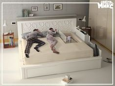 Stylish Home Decors, Food Recipes, Beauty Care Recipes: Creamy modern bedroom furniture sets with built in baby side with rail Attic Renovation, Attic Remodel, Kids Bedroom, Bedroom Decor, Cozy Bedroom, Bedroom Bed, Bedroom Ideas, Bedrooms, Modern Bedroom Furniture Sets