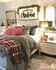 Christmas Bedroom Decor: 25 Ideas for a Cozy Holiday Bedroom! : Page 23 of 25 : Creative Vision Design Farmhouse Christmas Decor, Cozy Christmas, Holiday Decor, Christmas Movies, Christmas Room Decorations, Christmas Cactus, Christmas Vacation, Country Christmas, Homemade Christmas