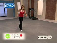 Not Zumba:Exercise TV/Start walking at home 1 mile with Leslie Sansone,  GREAT, SIMPLE, LOW IMPACT WORKOUT.  WONDERFUL FOR THOSE WHO ARE REALLY OUT OF SHAPE ARE JUST STARTING AN EXERCISE PROGRAM.