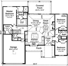 Main Floor Plan: 23-464  soaker tub MBR, bigger pantry, bigger garage, 2x6, screened porch+deck