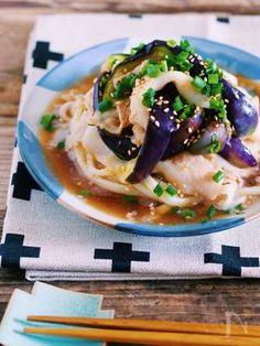 レンジで簡単♪『豚しゃぶと蒸しなすのぶっかけ冷やしうどん』 by Yuu | レシピサイト「Nadia | ナディア」プロの料理を無料で検索
