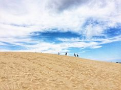 Sand Dunes of Jockey's Ridge in North Carolina Outer Banks Vacation, Travel Usa, Dune, North Carolina, Clouds, American, Beach, Places, Posts