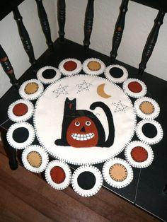 penny rug patterns free | PatternMart.com ::. PatternMart: Black Cat & Jack Penny Rug Pattern