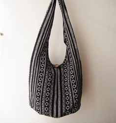 black boho nepali sling bag , ethnic crossbody bag, hippy bag #hippy  #bohemian #tribal #indianpattern #slingbag #bag