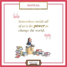 Love this children's literature quote!