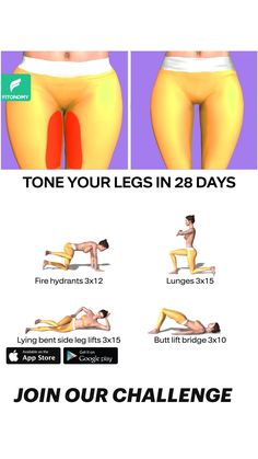 Body Weight Leg Workout, Full Body Gym Workout, Gym Workout Videos, Gym Workout For Beginners, Weight Loss Workout Plan, Butt Workout, Workout Challenge, Thigh, Exercises