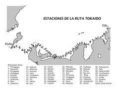 Mapa de la ruta Tōkaidō Hamamatsu, Hakone, Nihon, Words, Maps, Parking Lot, Voyage, Art, Horse