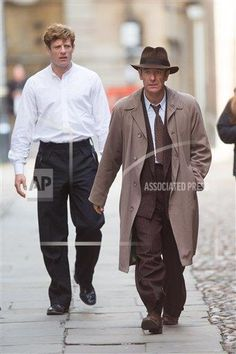 James Norton Robson Green 'Grantchester' TV programme filming, Cambridge, Britain - 03 Sep 2015