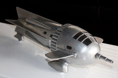 Zarkov's rocket ship from the Flash Gordon 1936 science fiction film serial.
