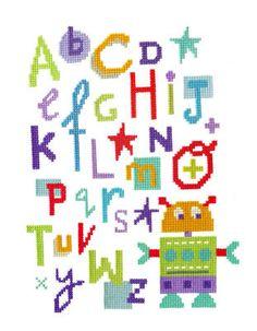 Robot Alphabet Sampler - *NEW*