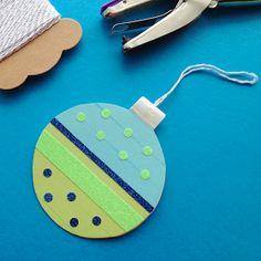 Omiyage Blogs: DIY Washi Tape Ornament Card & Gift Tags