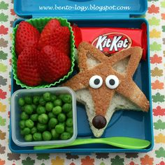 School Lunch / Lunch Box Ideas: Bento-logy: What Does the Fox Say? Bento Kids, Bento Box Lunch, Lunch Snacks, Kid Snacks, Lunch Boxes, Toddler Meals, Kids Meals, Boite A Lunch, Back To School Lunch Ideas
