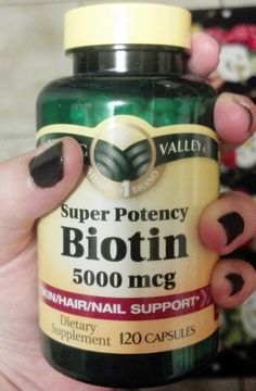 Biotin makes hair and nails grow fast and thick. Its good for your skin and gives it a pseudo-tan glow all year long. It also helps prevent grays and hair loss.