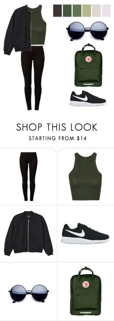 """""""Untitled #9"""" by aseel121213 ❤ liked on Polyvore featuring Dorothy Perkins, Topshop, Monki, NIKE and Fjällräven"""