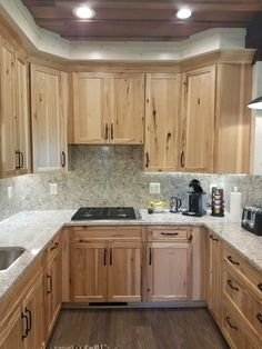 38 modern farmhouse classic kitchen decor ideas – Update Your Kitchen Cabinets Replacing Kitchen Countertops, Hickory Kitchen Cabinets, Kitchen Remodel, Kitchen Decor, Diy Kitchen, Rustic Kitchen, New Kitchen Cabinets, Kitchen Renovation, Kitchen Design