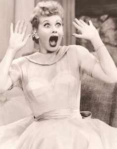 My face when I see anything i love lucy related. :P