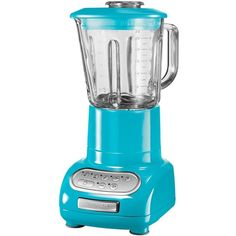 KitchenAid Artisan Blender Crystal Blue (13.745 RUB) ❤ liked on Polyvore featuring home, kitchen & dining, small appliances, kitchen, kitchen aid small appliances, kitchen aid blender, kitchenaid, kitchenaid blender and glass blender