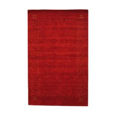 Indo Hand-knotted Gabbeh Red/ Ivory Wool Rug (5' x 8') | Overstock.com Shopping - Great Deals on N/A 5x8 - 6x9 Rugs Best Deals Online, Red Pattern, Online Home Decor Stores, 5 S, Wool Rug, Primary Colors, Home Accessories, Latex, Branding Design