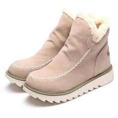 Lostisy LOSTISY Big Size Pure Color Warm Fur Lining Winter Ankle Snow Boots For Women is hot-sale. Come to NewChic to buy womens boots online. Ankle Snow Boots, Warm Snow Boots, Snow Boots Women, Ugg Boots, Shoe Boots, Fall Boots, Cute Snow Boots, Toe Shoes, White Winter Boots