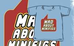 Mad About Minifigs T-shirt by Bubble-Tees.com by Bubble-Tees