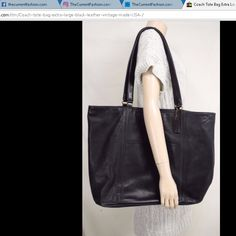 Coach tote bag extra large black leather vintage made USA ~ http://stores.ebay.com/thecurrentfashion/Bags-/_i.html?_fsub=10888362012 , http://stores.ebay.com/thecurrentfashion?_dmd=2&_nkw=vintage , http://stores.ebay.com/thecurrentfashion?dmd=2&_nkw=USA | #TheCurrentFashion #Coach #Coachbag #Coachtote #vintageCoach #tote #vintage #vintagetote #leathertote #bag #handbag #leatherbag #leatherhandbag #vintageleatherbag #vintageleather #shopper #USA #MadeInUSA #eBay #eBayFashion #fashion #style
