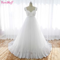 White Maternity Wedding Dresses Plus Size For Pregnant Women 2017 Empire Bride Dress Gown Lace Beads Abiti da sposa R133