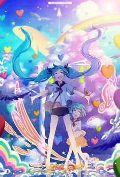 It seems like Miku has showing a  world to her little version