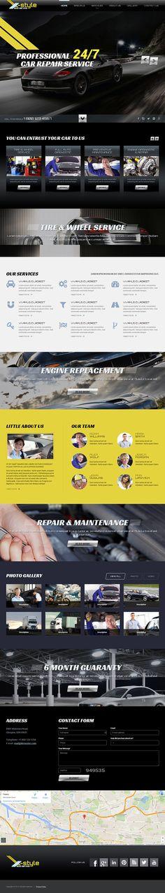 Autoservice HTML Template on Behance #carservices  #carmechanicservices #mechanicservices