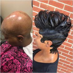 Hair By Donetta ・・・ Serving Real Slayage ✂️❤️ voiceof… 27 Piece Hairstyles, Short Weave Hairstyles, Black Girls Hairstyles, Hairstyle Short, Permed Hairstyles, Elegant Hairstyles, Twist Hairstyles, Short Hair Cuts, Short Hair Styles
