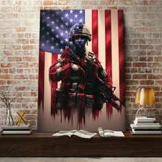 Pure Valor Canvas Set is a piece of digital artwork by Canvas Cultures which was uploaded on April The digital art may be purchased as wall art design American Flag Crafts, American Flag Wood, Memes Arte, Patriotic Pictures, Wood Flag, Military Art, Military Crafts, American Soldiers, Wall Art Designs
