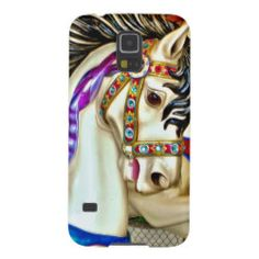 Carousel Horse Galaxy S5 Cover. Carousel Horse is hdr Photography taken of a beautiful vivid colored carousel (merry go round) horse.