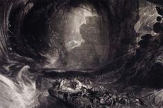 John Martin (Mezzotint illustrations); John Milton's Paradise Lost, ca. 1824.