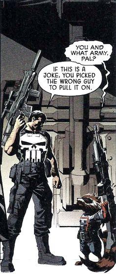 The Punisher Meets Rocket Raccon - Original Sin #4