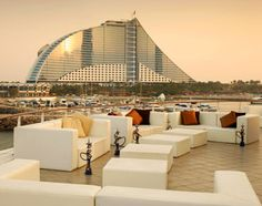 """Top 14 Nightlife Spots in Dubai."" How amazing is this outdoor, beachfront night club! ~ This one is situated at the Jumeirah Beach Hotel. It is only about some hundred meters from the Burj Al Arab. As a result, it stays most crowded from October to March, when people come here to experience the see breeze. It also offers a very relaxing atmosphere."