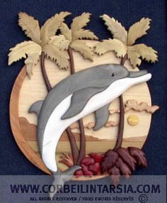 CORBEILINTARSIA.COM Plan intarsia dauphin - dolphin paradise intarsia pattern