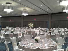 Champagne & Ivory at Pinnacle Hotel at the Pier #chairdecor #granvilleislandflorist