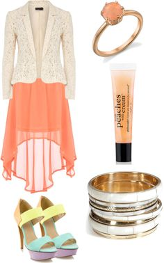 Peaches and Cream, created by alliemarie53 on Polyvore