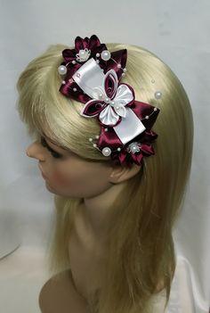 Haarreifen - Haarreif Kanzashi - ein Designerstück von Tatyana-Mirza bei DaWanda