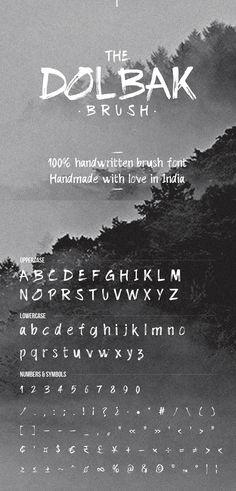 Dolbak Free Brush Script Font