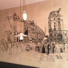 Urban Sketching, Vintage World Maps, Ceiling Lights, Sketches, Instagram Posts, Home Decor, Draw, Interior Design, Doodles