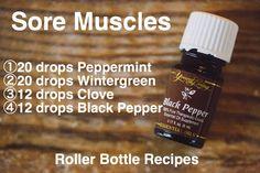 Sore muscle roller bottle blend