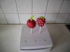 cakepop appel en aardbei