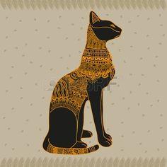 Vector gato Egipto gr fico ilustraci n del arte del dise o Foto de archivo