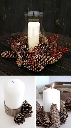 Pommes de pins | #Decoration #Home #Maison #Noel #Christmas