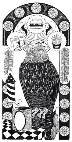 The Holy Trinity—A woodcut print by Zach Fitchner